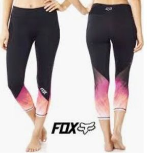 Fox Racing Hyped Black Pink Mesh TRUDRI Leggings S